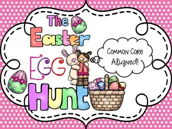 Easter Egg Hunt Emergent Reader Literacy & Math Centers