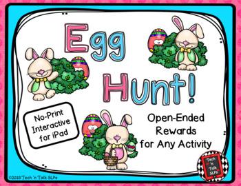Easter Egg Hunt  - Find the Prize Egg - Interactive No Print Rewards Game