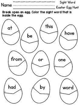 Easter Egg Hunt - Find the Sight Word