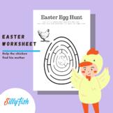 Easter Egg Hunt (For Mom) - Maze Worksheet