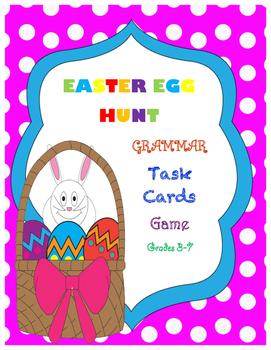 Easter Egg Hunt Grammar Task Cards Game