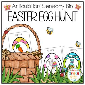 Easter Egg Hunt Interactive Articulation Sensory Bin