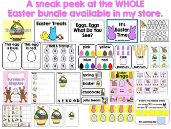 Easter Egg Hunt Interactive Emergent Reader with Center Activities SLP & SPED