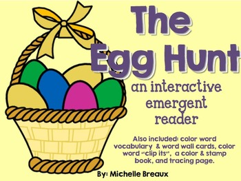 Easter Egg Hunt Interactive Emergent Reader with Center Ac