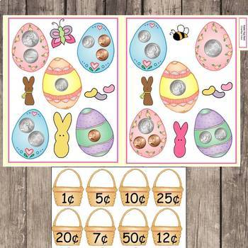 Literacy and Math Center Activities for Easter