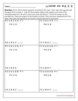 Easter Egg Hunt Long Division w/ Remainders Math