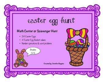 Easter Egg Hunt - Math Center or Scavenger Hunt