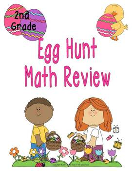 Easter Egg Hunt Math Review (2nd Grade)