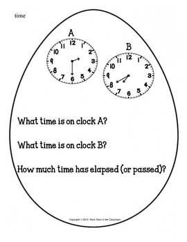 Easter Egg Hunt Math Review (3rd Grade)