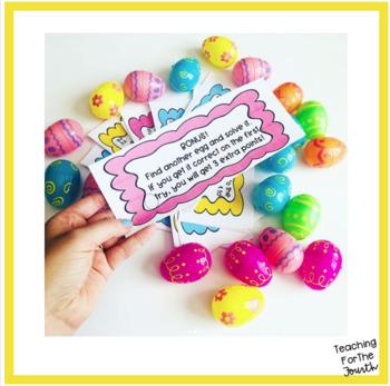 Easter Egg Hunt Math Task Cards