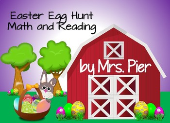 Easter Egg Hunt Math and Reading