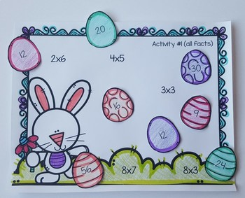 Easter Egg Hunt {Multiplication Cut and Paste}