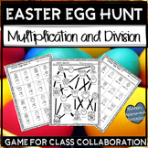 Easter Math Worksheets 5th Grade Multiplication and Division Game