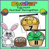 Easter Egg Hunt Number Recognition Activity (1-20)