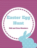 Easter Egg Hunt: Odd and Even Numbers File Folder Game