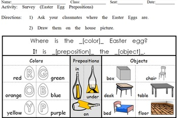 Easter Egg Hunt PUZZLE: English Communication Activities