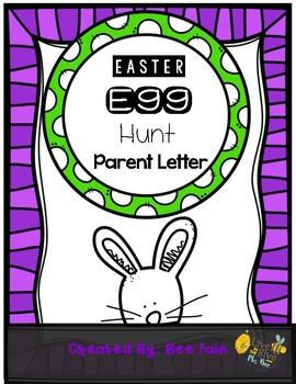 Easter Egg Hunt Parent Letter