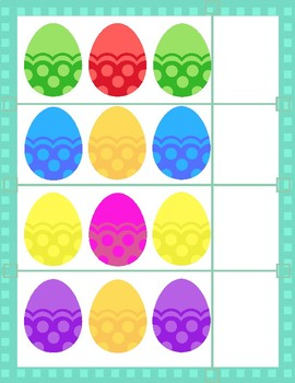 Easter Egg Hunt: Patterns File Folder Game