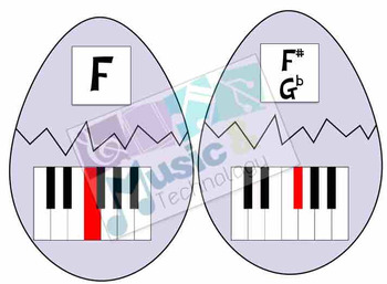Easter Egg Hunt- Piano Keys Review Game