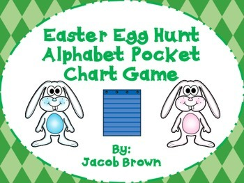 Easter Egg  Hunt Pocket Chart Game (letters and numbers)