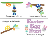 Easter Egg Hunt Prepositional Phrases L.K.1.E, L.1.1.J