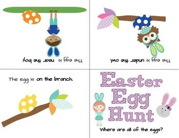 Easter Egg Hunt Prepositional Phrases L.K.1.E, L.1.1.J