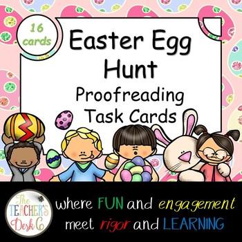 Easter Egg Hunt Proofreading Task Cards