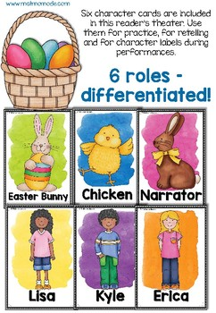Easter Egg Hunt Reader's Theater - Differentiated roles, reading response