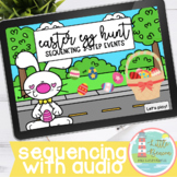 Easter Egg Hunt | Sequencing 3-Step Events Boom Cards™ WITH AUDIO