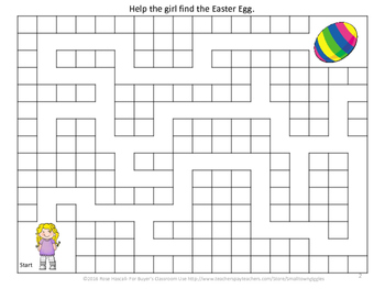 Easter Egg Hunt-Set of 8 Mazes Early Finishers, Morning Work, Centers
