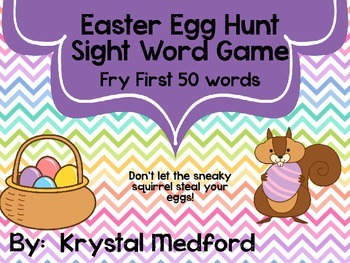 Easter Egg Hunt Sight Word Game (Fry First 50)