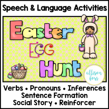 Easter Egg Hunt Speech & Language Activities