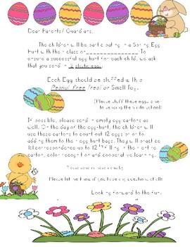 Easter Egg Hunt/ Spring Hunt Letter!