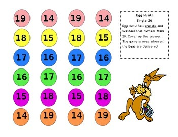 Easter Egg Hunt - Take Away Math Games