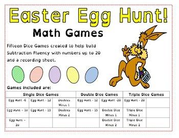 Easter Egg Hunt - Take Away Math Games