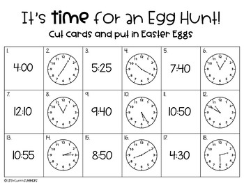 Easter Egg Hunt: Telling Time & Counting Money