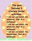 Easter Egg Hunt: antonyms, synonyms, homophones Gr. 2 HOME USE