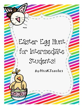 Easter Egg Hunt for Intermediate Students **Math Based**