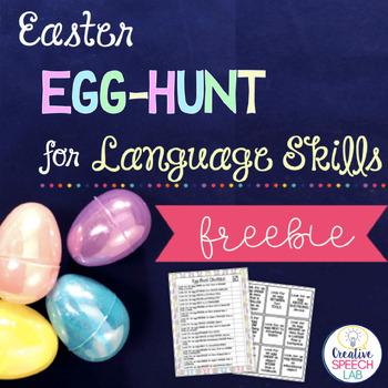 Easter Egg-Hunt for Language Skills Freebie