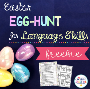 Easter Egg-Hunt for Language Skills Freebie