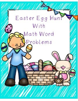 Easter Math with Word Problems (egg hunt activity)