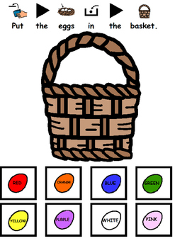Easter Egg Interactive Color Activity