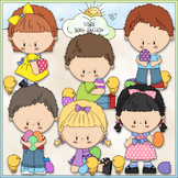 Easter Egg Kids Clip Art - Easter Clip Art - Easter Kids -