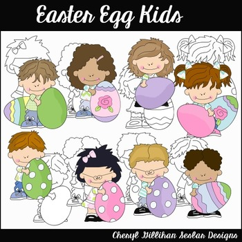 Easter Egg Kids Clipart Collection