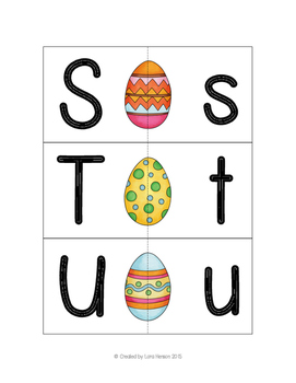 Easter Egg Letter Matching Cards - Uppercase to Lowercase - Set of 26