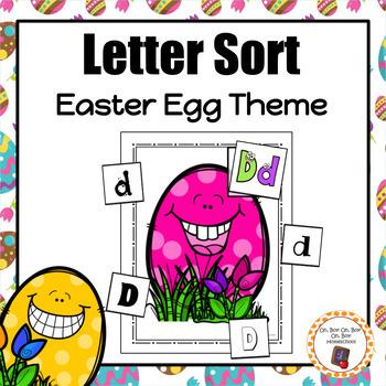 Easter Egg Letter Sort - S