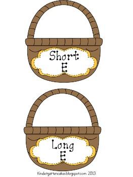 Easter Egg Long and Short Vowel Hunt