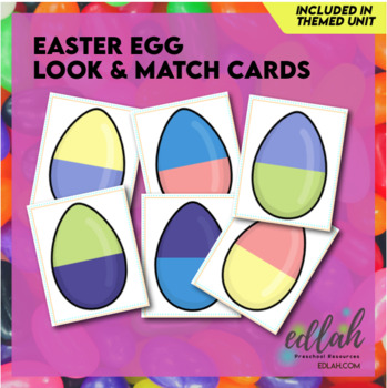 Easter Egg Look & Match - Distance Learning