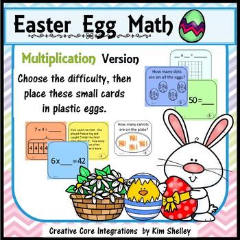 Easter Egg MULTIPLICATION Task Cards