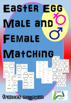 Easter Egg Male and Female Matching for EAL/ESL/ELL/EFL